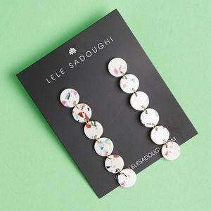 NWT Lele Sadoughi Circle Garland Confetti Earrings